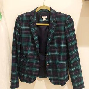 J. Crew - plaid blazer (Size 0)